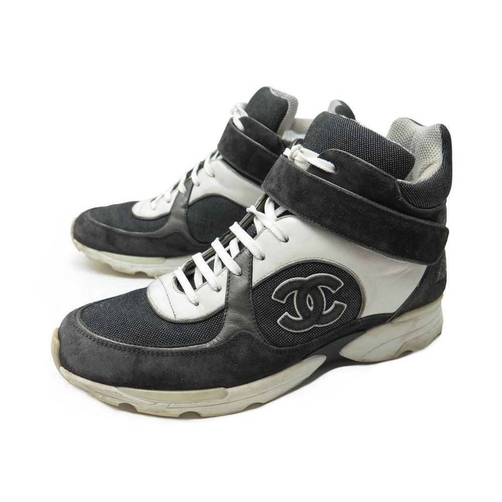 vente chaussures chanel en ligne,chaussures imitation chanel,chaussure  chanel femme pas cher. Baskets CHANEL Baskets en cuir acheter Chaussures  chanel en ... a3847c70a06