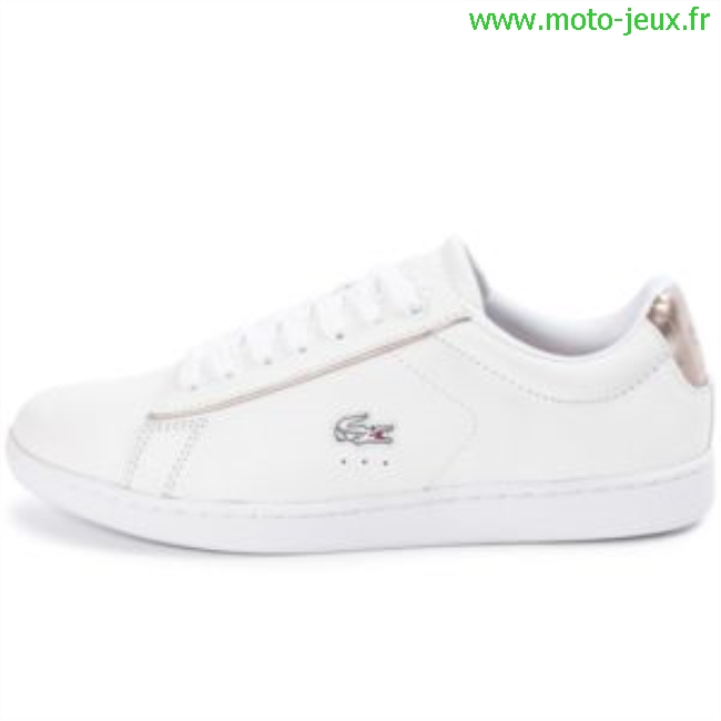 Blanche Chaussure Lacoste Et Rose Femme SSHREqw